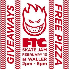 FTC x Spitfire Wheels Waller Street Skate Jam