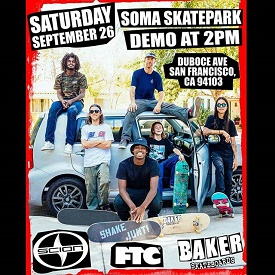 Baker Demo at SOMA West Skatepark
